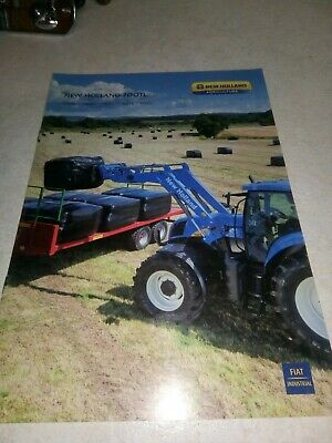 new holland tractor  700 tl loaders sale brochure  8 pages