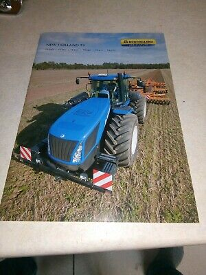 new holland tractor t9 sale brochure  24 pages