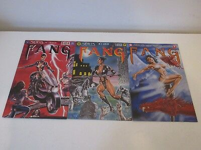 SIRIUS COMICS: FANG X 3 No's 1,2,3 - All Very Fine ++ First Print 1995