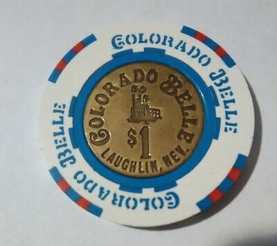 Colorado Belle Casino Laughlin, Nevada Hard To Find $1.00 Metal Insert Chip!