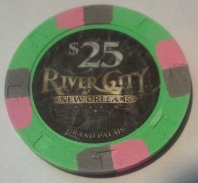 1995 River City Casino New Orleans $25.00 Cancelled Chip Great For Collection!