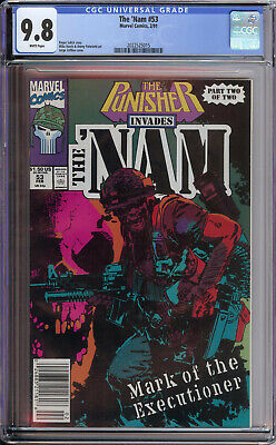 The Nam 53 Cgc 9.8  Punisher Invades (Limited Series) War Zone Only 1 On Census