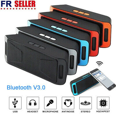 Bluetooth Enceinte Haut-parleur Portable Audio Stéréo Sans Fil FM TF USB MP3 FR