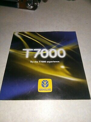 new holland tractor t7000 brochure  bi fold 10 pages