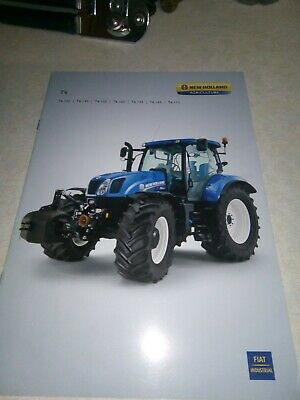 new holland tractor t6 sales brochure  8 pages