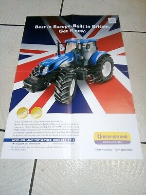 new holland tractor best in europe built in britain poster