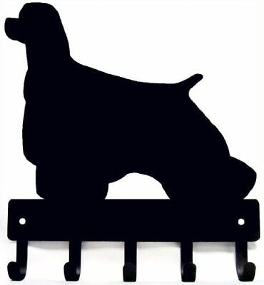 Cocker Spaniel Key Rack/ Dog Leash Hanger with 5 hooks - Small 6in -Made in USA