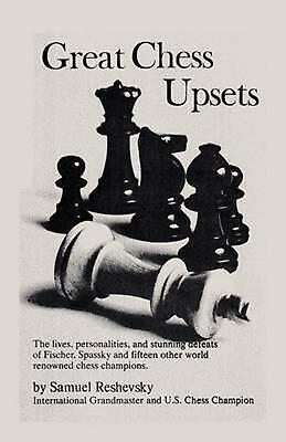 Great Chess Upsets by Samuel Reshevsky (English) Paperback Book Free Shipping!