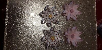 romany girl baby / toddler 1ST PARTY  BOBBLES CUTE  2 X PAIRS RABBIT BLING HEART