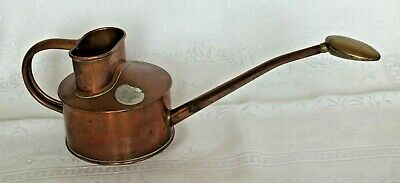 Haws ~ 1 Pint ~ Copper, Indoor Watering Can with Removable Brass Rose ~ VGC