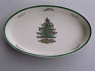 """SPODE CHRISTMAS TREE LARGE OVAL 14 1/2"""" VEGETABLE DISH. O.T.T. 2nd"""