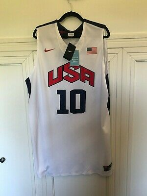 d966c1691 Kobe Bryant 2012 Dream Team USA Basketball Olympics White  10 Jersey (Brand  New)