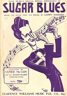 SUGAR BLUES CLYDE McCOY Trumpet Solo As Recorded 1935 Band Chart Sheet Music