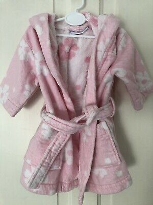 little white company 6-9 months girl Bath Robe Dressing Gown 6-12m