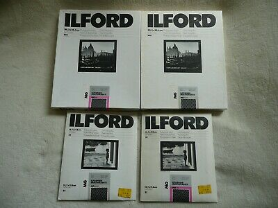 VINTAGE Ilford Unsealed and Sealed PHOTOGRAPHIC PAPER LOT 8X10 5x7 Multigrade II