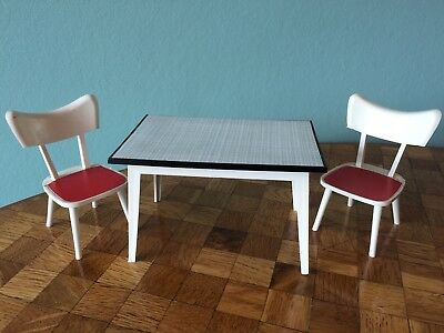 Tisch Stuhl  Modella Puppenhaus  Puppenstube 1:12 dollhouse table chair