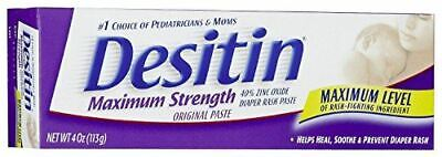 Desitin Diaper Rash Paste, Maximum Strength, 4 Ounces (Pack of 6)