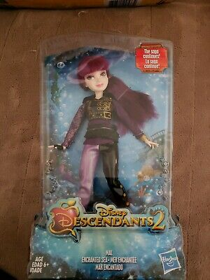 NEW Disney Descendants 2 MAL Enchanted Sea Posable Doll w/ Purple Hair & Outfit