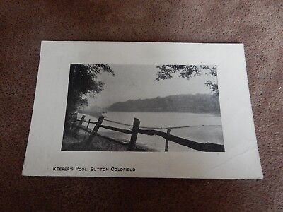 Early postcard -Keeper's pool - Sutton Coldfield  Birmingham - West Midlands