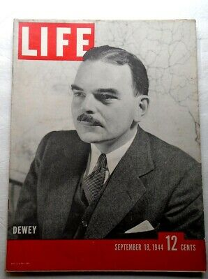 LIFE MAGAZINE September 18 1944 Dewey Battle Mons Fred Astaire WWII VINTAGE ADS