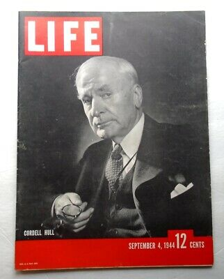 LIFE MAGAZINE September 4 1944 Cordell Hull PARIS FREED WWII VINTAGE ADS