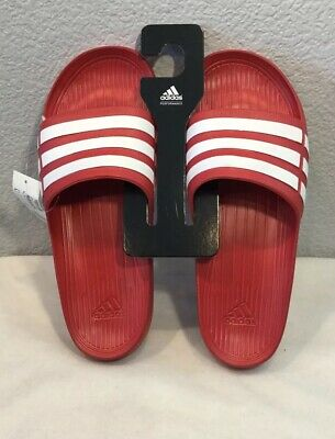 a033efd59410 New Adidas Duramo Slides Sandals Collegiate Red White (G15886) Men s Size 12
