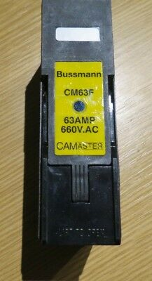 Cooper Bussmann 63A Rail Mount Fuse Holder With Indicator for A3 Fuse, 660V ac