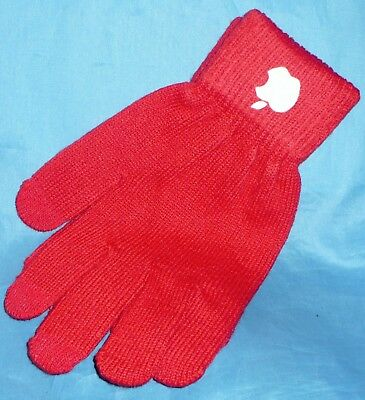 APL Solid Color Knitted Winter Warm Gloves Touch Screen Mittens 1 Pair