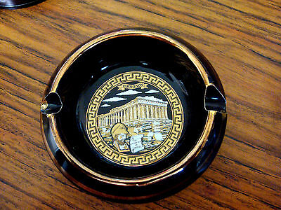 Greek Parthenon Ashtray Hand Made In Greece 24 Kt Gold