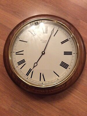 Comitti Of London Oak Cased Wall Clock