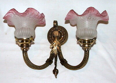 Antique French Wall light Electric converted from Gas