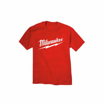 Standard Red Milwaukee Electric Power Tools Tee Shirt T-Shirt ALL SIZES