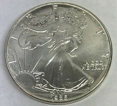 1986 Silver American Eagle BU 1 oz Coin $1 Dollar Uncirculated Mint Key Date