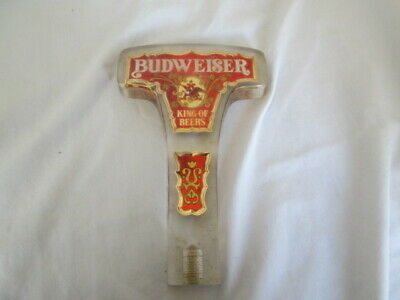 Vintage Budweiser King of Beers Beer Acrylic Tap Handle - T Shape