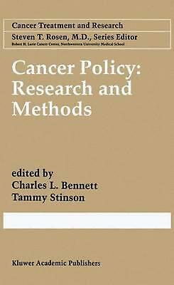 Cancer Policy: Research and Methods (English) Paperback Book Free Shipping!