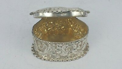 Silver trinket box gold lined