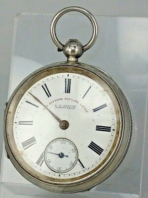 1899 Victorian silver cased pocket watch Graves Sheffield Express English lever