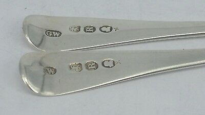 1812 George III Two Solid silver matching Georgian tea spoons