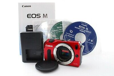Canon EOS M Body 18.0MP Mirrorless Digital Camera Red Excellent+++ Tested #3184