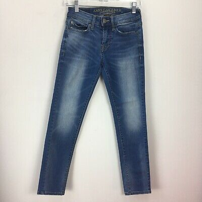 American Eagle Outfitters Jeans 26 x 28 Distressed Faded Blue Extreme Flex