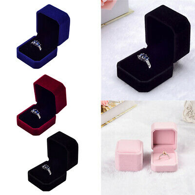 Earrings Ring Box Jewelry For Romantic Special Gift Velvet Display Gift Case
