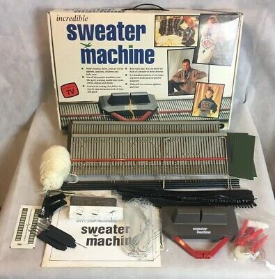 Vintage Incredible Sweater Machine As Seen On TV Knitting Kit by Bond