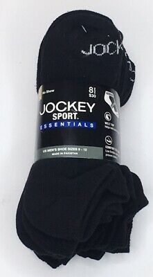 f58cdd5ac699 8 Pairs Mens Jockey Sport Essentials Cushioned Cotton Arch No-Show Socks,  $19.98
