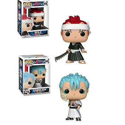 2 Set Bleach - Renji with Sword & Grimmjow Pop! Vinyl Figure