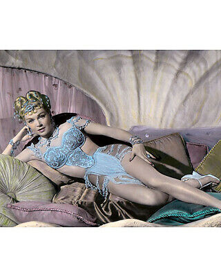 "LANA TURNER THE PRODIGAL 1955 HOLLYWOOD ACTRESS 8x10"" HAND COLOR TINTED PHOTO"
