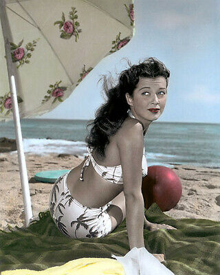 "GAIL RUSSELL NIGHT HAS A THOUSAND EYES 1948 8x10"" HAND COLOR TINTED PHOTOGRAPH"