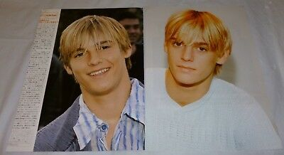 Aaron Carter Japanese Pinup/article *mega Rare* Another Earthquake 2001/2002