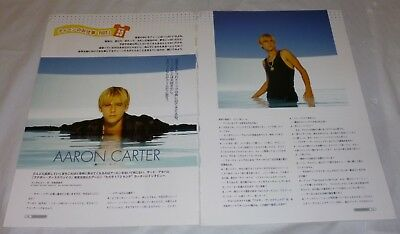 Aaron Carter Japanese 2 Page Article *mega Rare* Another Earthquake 2001/2002