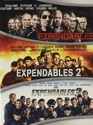 Brand New -The Expendables1 2 & 3 DVD Film Collection  Sylvester Stallone & More