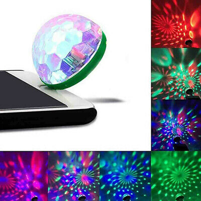 USB Mini LED RGB Disco Stage Light Party Club DJ KTV Magic Phone Ball Lamp 4*4cm